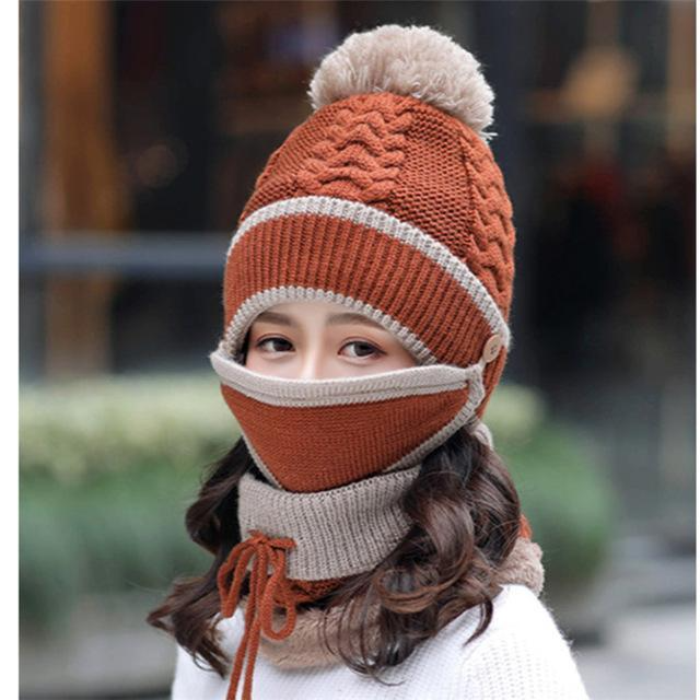 Women Winter Scarf Set