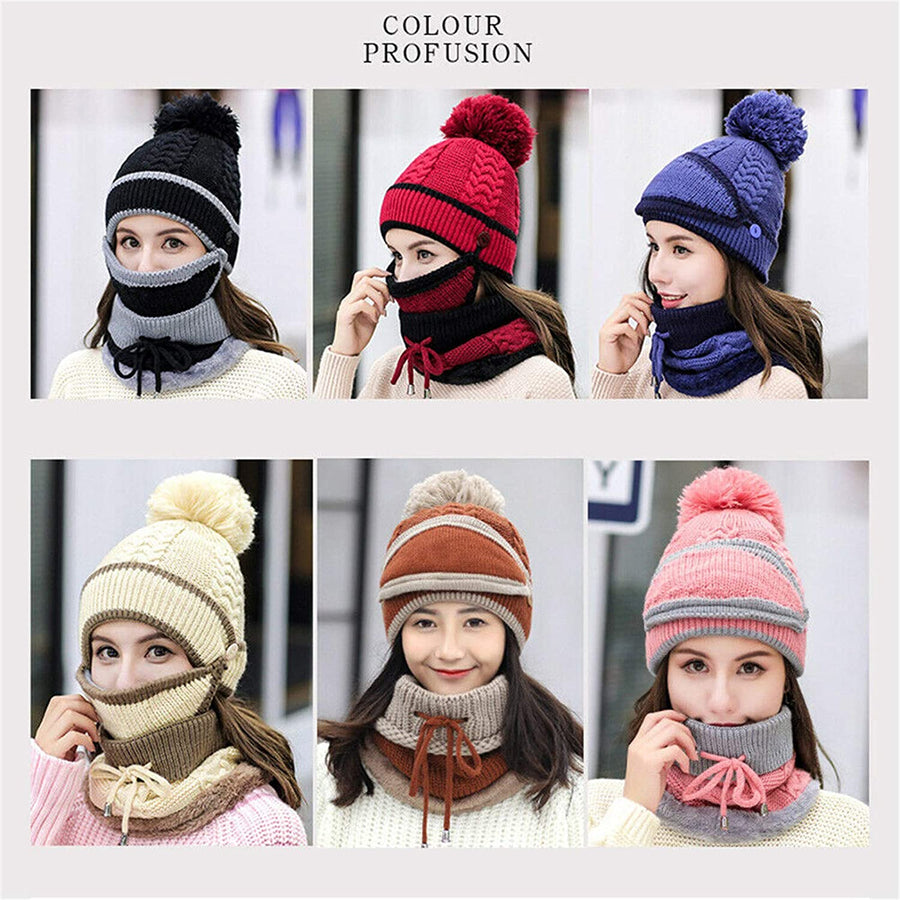 2021 New 3 in 1 Winter Beanie Set