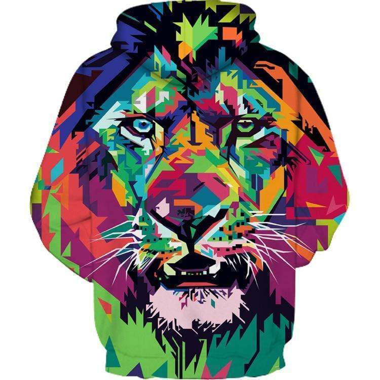 """Colorful Painting Tiger'' Couple 3D Print Hooded Sweatshirt"