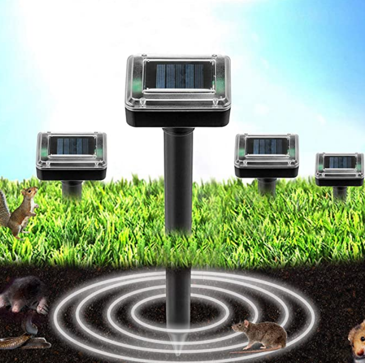 50% OFF - Solar Power Ultrasonic Sonic Mouse Mole Snakes Pest Rodent Repeller