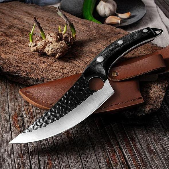 Handmade Sharp Kitchen Knife - Viking Forged Knife