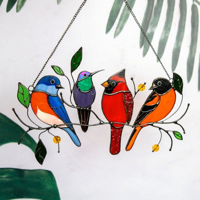 Small Bird Painted Window Decoration