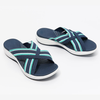 BUY 2 FREE SHIPPING-Stretch Cross Orthotic Slide Sandals