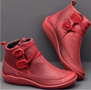 Womens Stitching Slip On Solid Color Slip Resistant Winter Ankle Boots 2021 Shoes