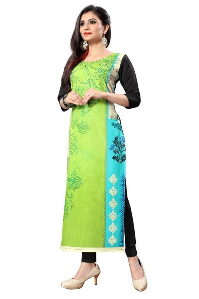 Stylish Printed Crepe Kurta