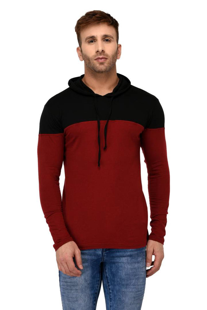 Multicoloured Cotton Colourblocked Hooded Tees - pricegrill.com