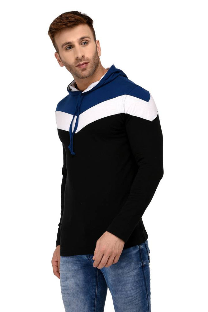 Multicoloured Cotton Colourblocked Hooded Tees