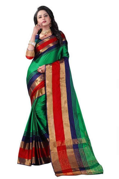 Trendy Cotton Silk Sarees with Blouse - pricegrill.com