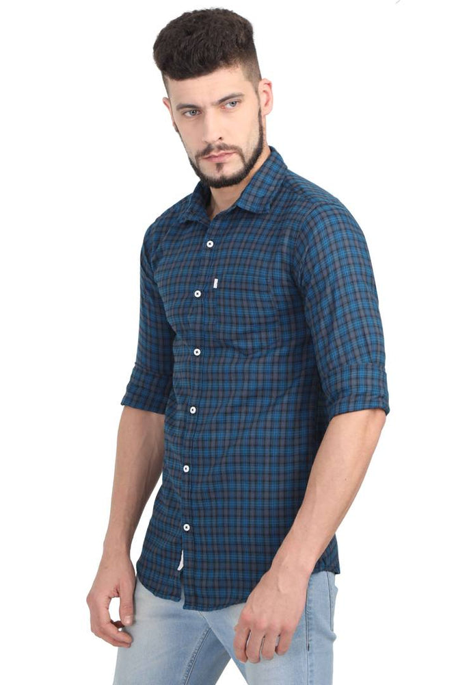 Men's Multicoloured Cotton Checked Long Sleeves  Casual Shirt