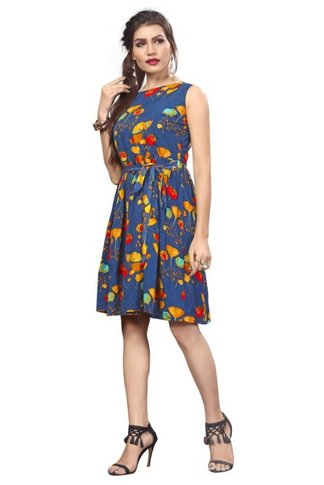 Western Wear Frock Party Wear One Piece Dress For Women & Girls - pricegrill.com
