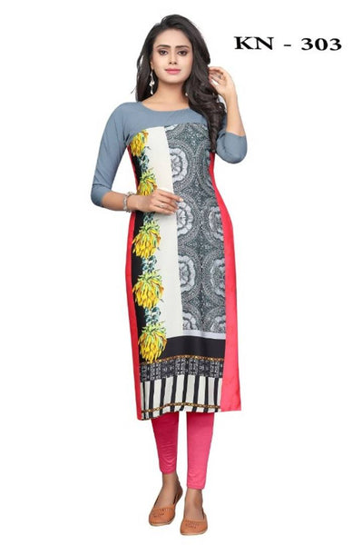 Stylish Digital Printed American Crepe Kurta