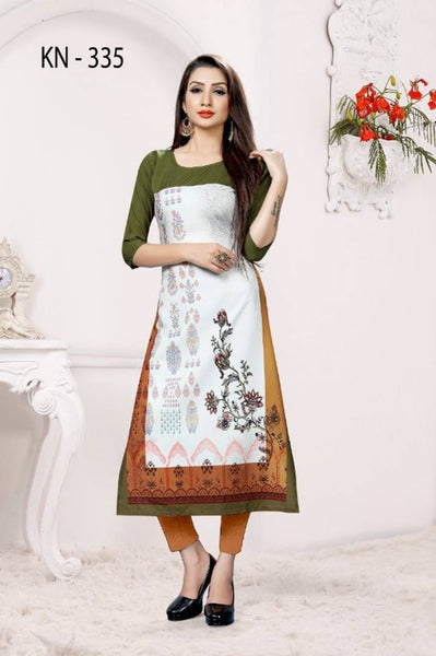 Stylish American Crepe Digital Printed Kurti