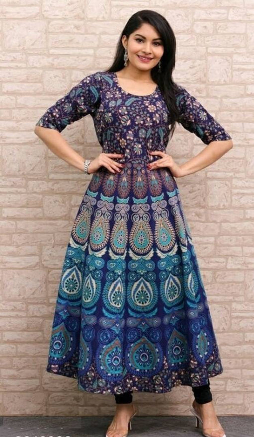 Elite Cotton Printed Anarkali Women's Kurta