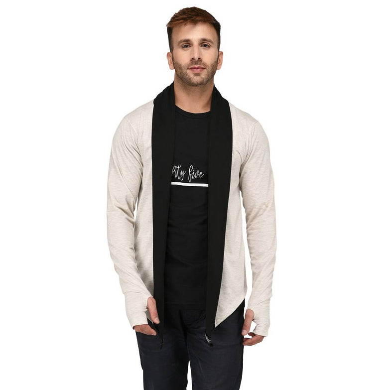 Men's Solid Black Cotton Cardigan Sweaters