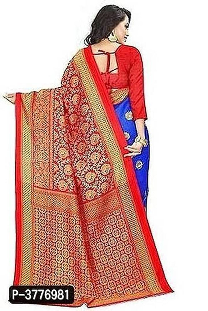 Women Beautiful Multicolored Mysore Silk Saree with Blouse piece - pricegrill.com