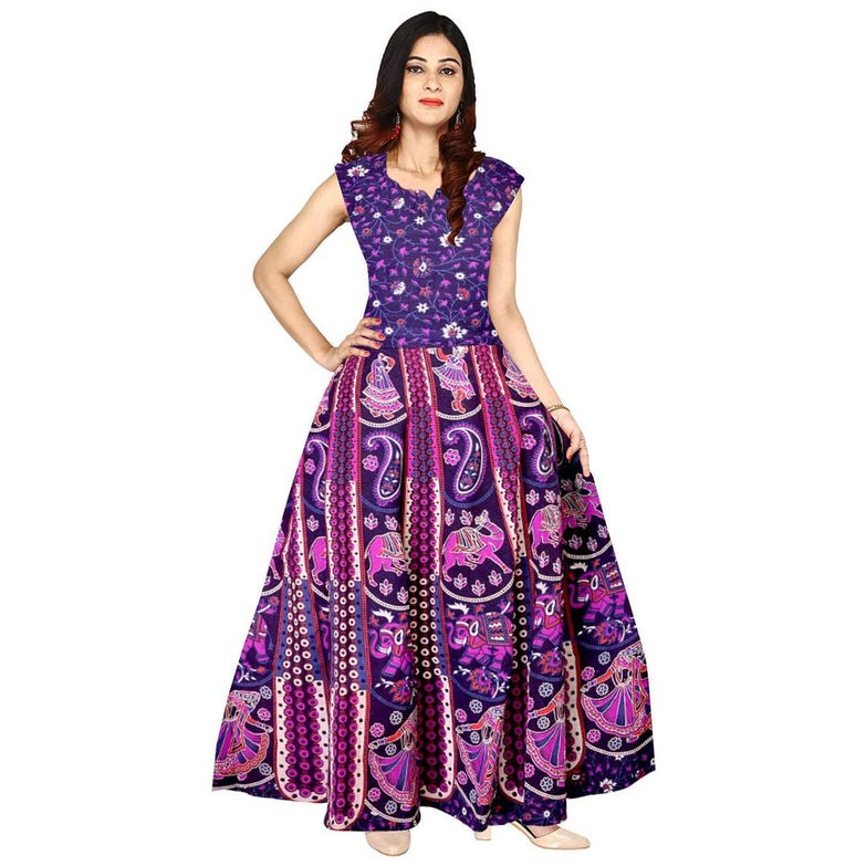 Women Cotton Printed A-Line Dress