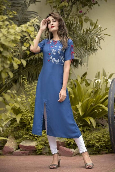 Rayon Embroidery Stylish Kurta
