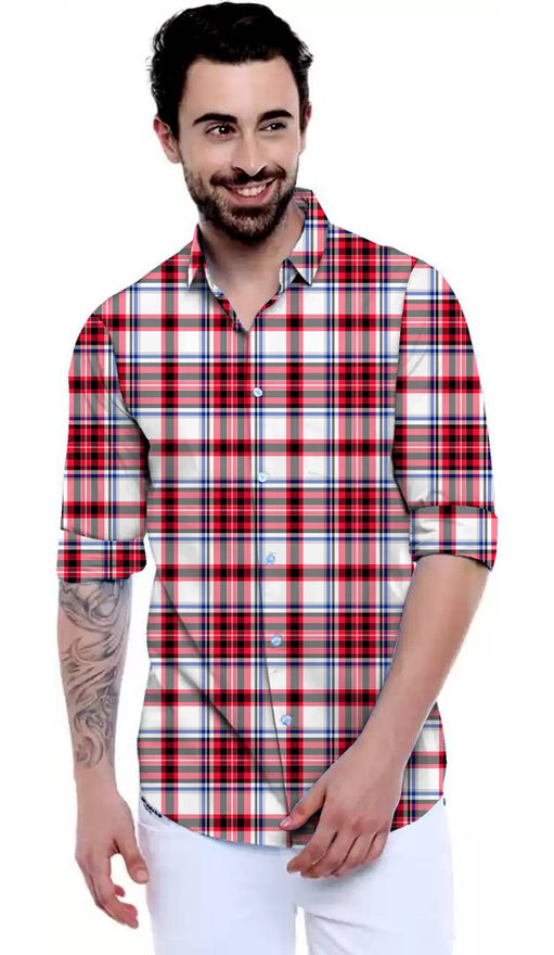Stylish Multicoloured Satin  Casual Shirt for Men