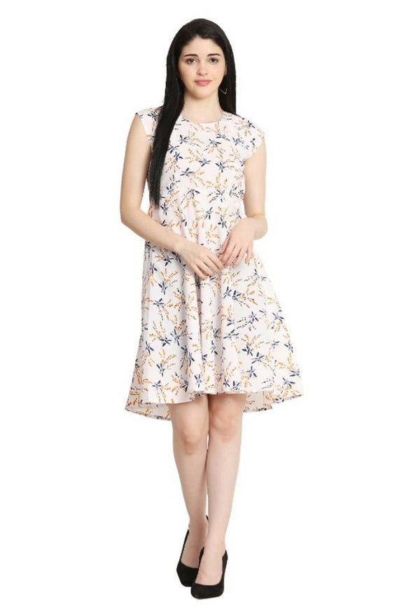 Stylish Crepe Midi Length Floral Printed Dress For Women - pricegrill.com