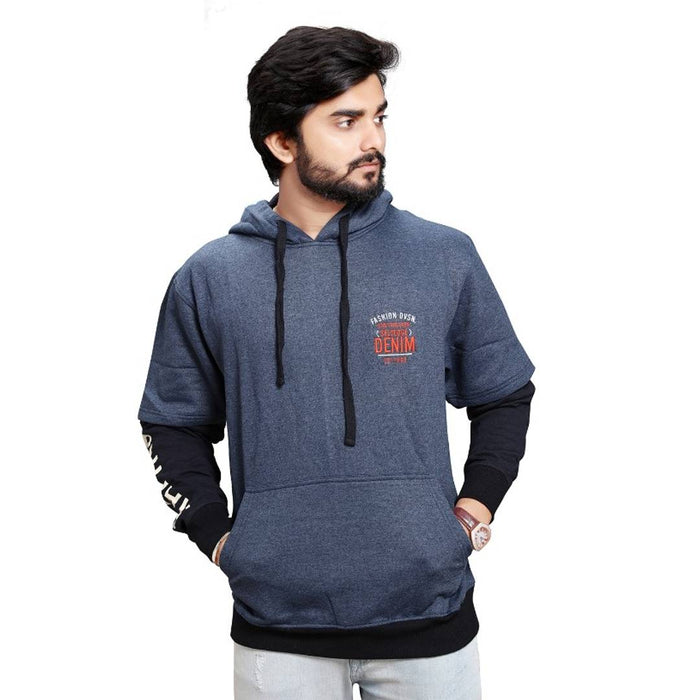 Navy Blue Stylish Mens Hoody