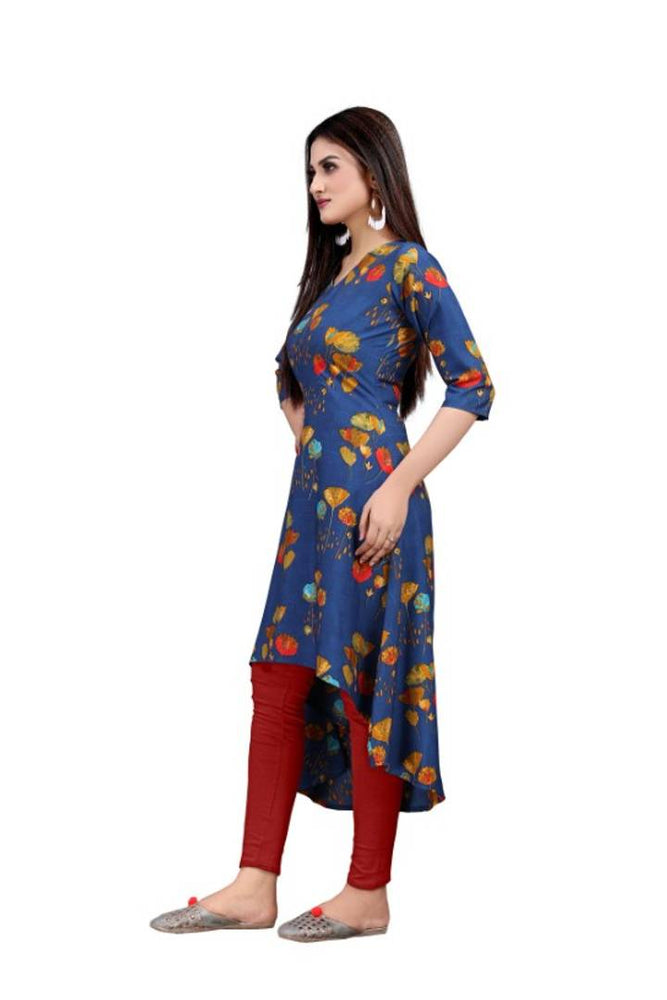 Women's Crepe Knee Length Up-Down Tunic  Dress - pricegrill.com