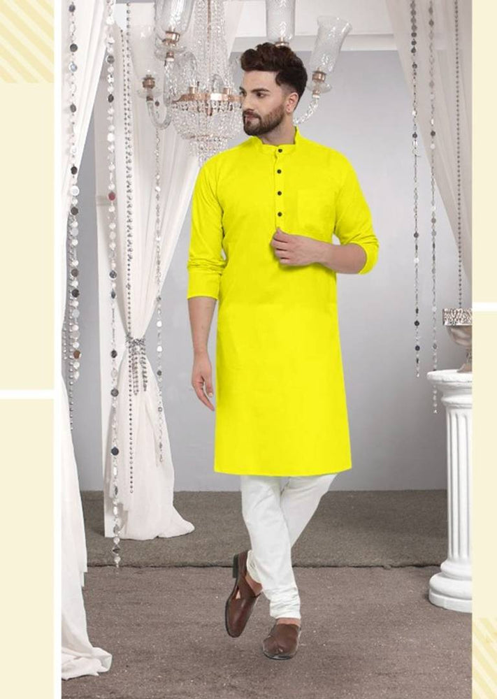 Cotton Solid Long Length Kurta For Men - pricegrill.com