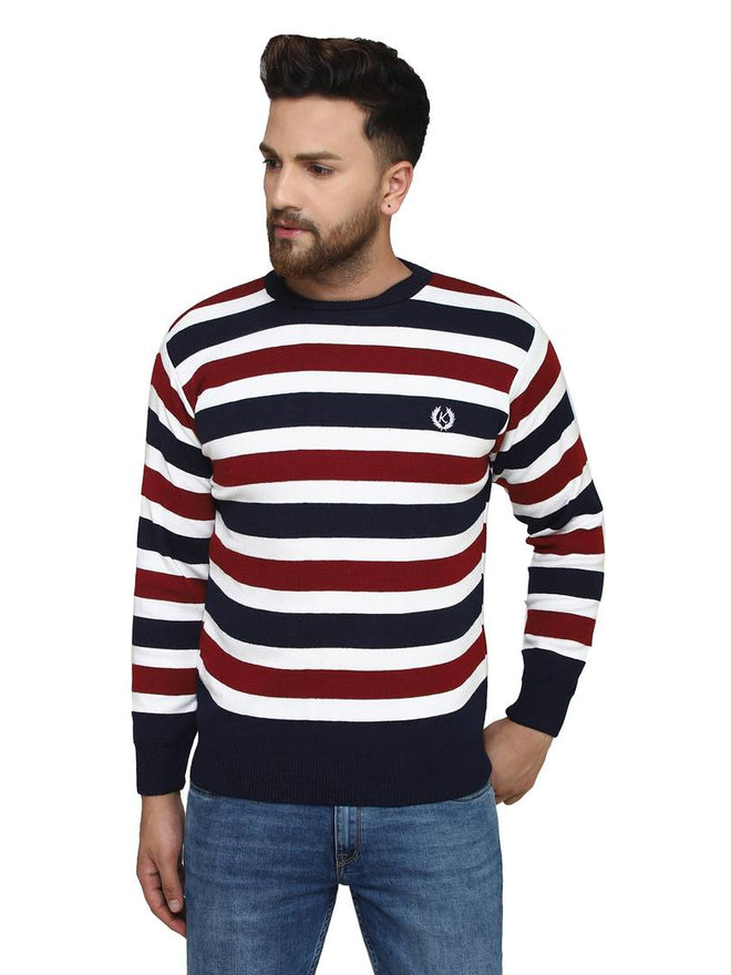 Striped Synthetic Long Sleeves Turtle Neck  Sweaters - pricegrill.com