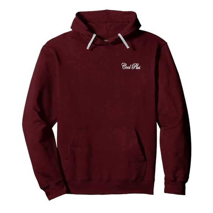 Elegant Maroon Cotton Printed Long Sleeves Hoodies For Men