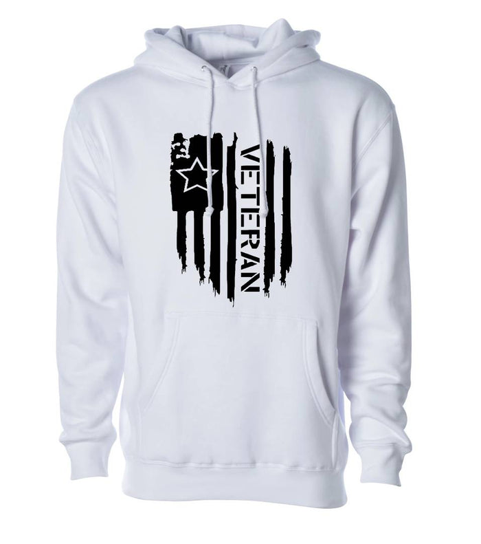 Unisex Regular Fit Veteran Printed Cotton Hoodie