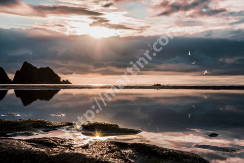 Holywell Bay Reflection I