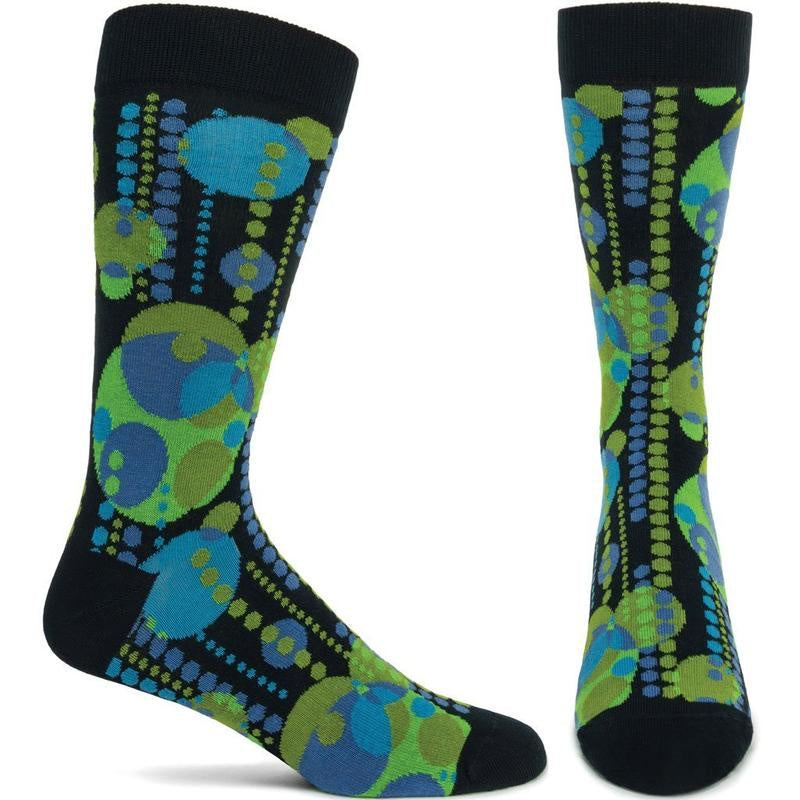 Ozone Midway Garden Mural Frank Lloyd Wright Men's Socks, Green
