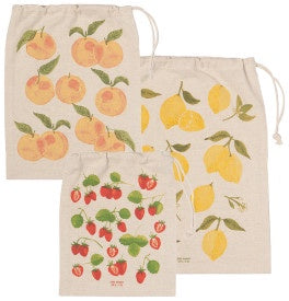 Fruit Salad Produce Bags, Set of 3