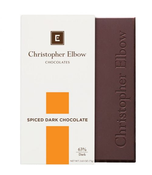 Christopher Elbow Spiced Dark Chocolate Bar, 2.65 oz.