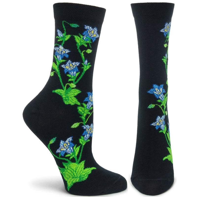 Apothecary Florals Socks, Gentian