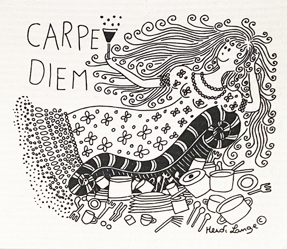 Carpe Diem Swedish Cellulose Dishcloth