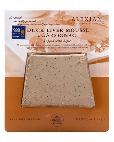Duck Liver Pate with Cognac, 5 oz., Local Pickup & Delivery Only