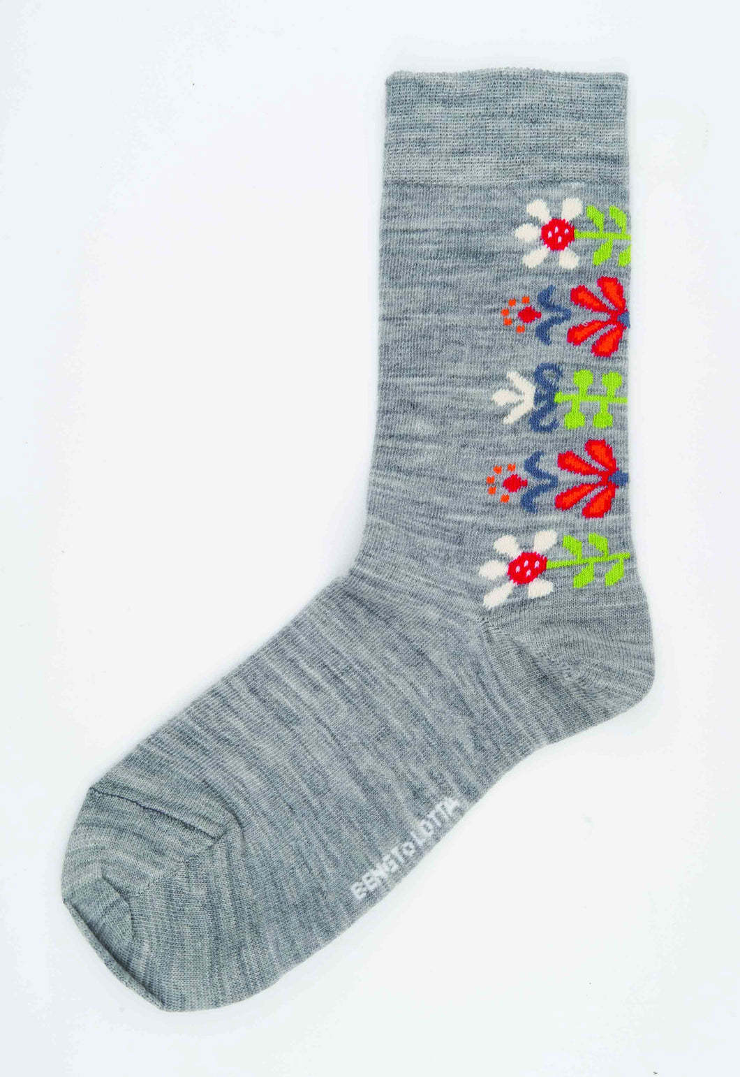 Monica Socks, Light Gray, Large