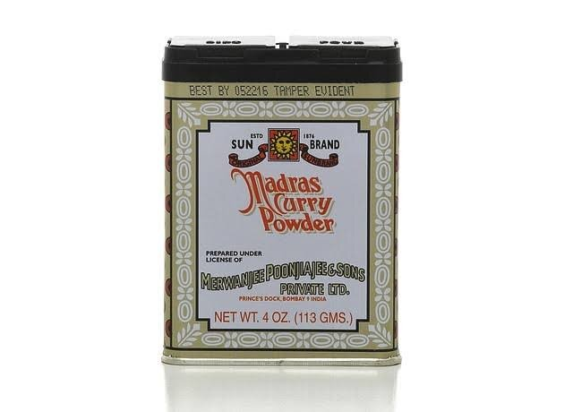 Sun Brand Madras Curry Powder, 4 oz (113 g)