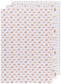 Cake Walk Bakers Flour Sack Towels, Set of 3