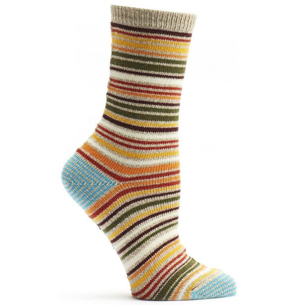 Ozone Scandinavian Stripe Socks, Orange