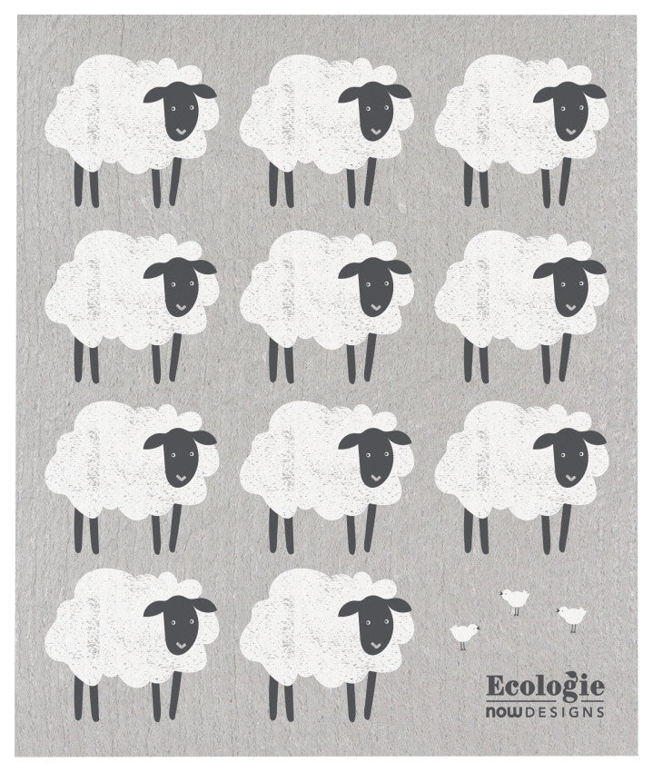 Counting Sheep Swedish Cellulose Dishcloth