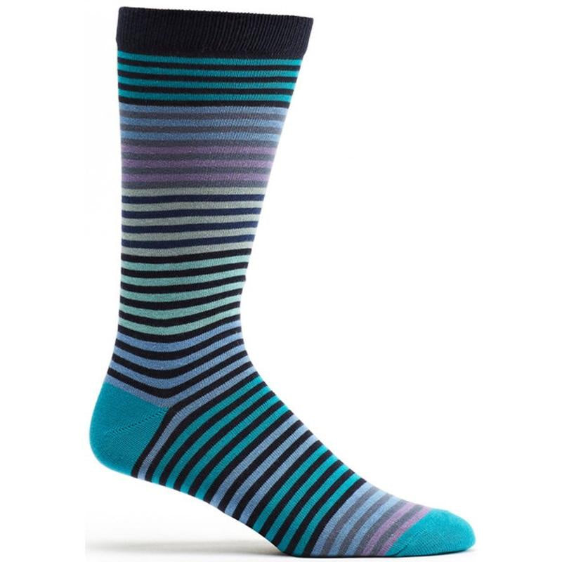 Ozone Stripy Men's Socks, Navy