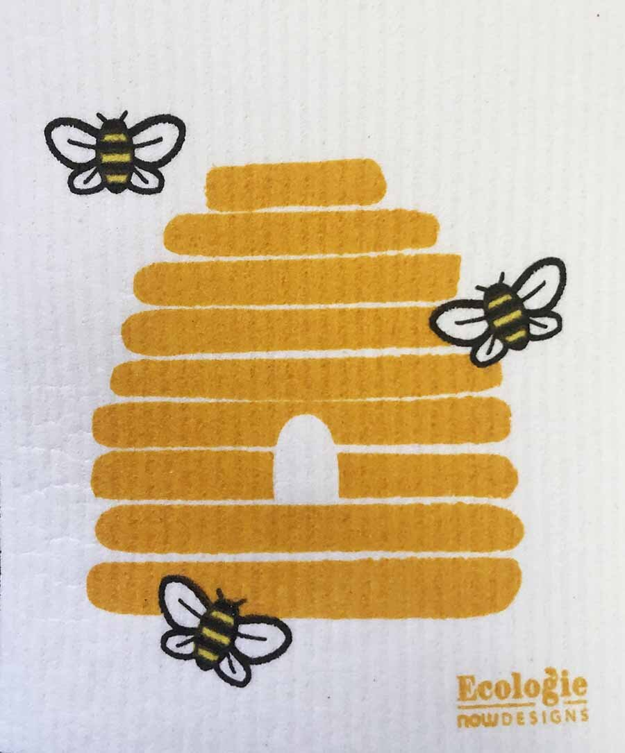 Bees Swedish Cellulose Dishcloth