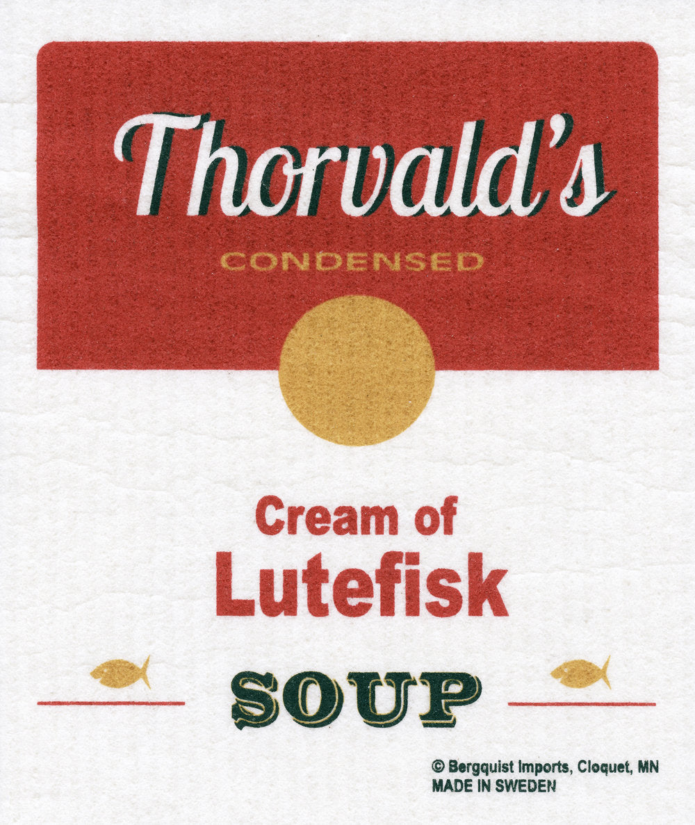 Cream of Lutefisk Soup Swedish Cellulose Dishcltoh