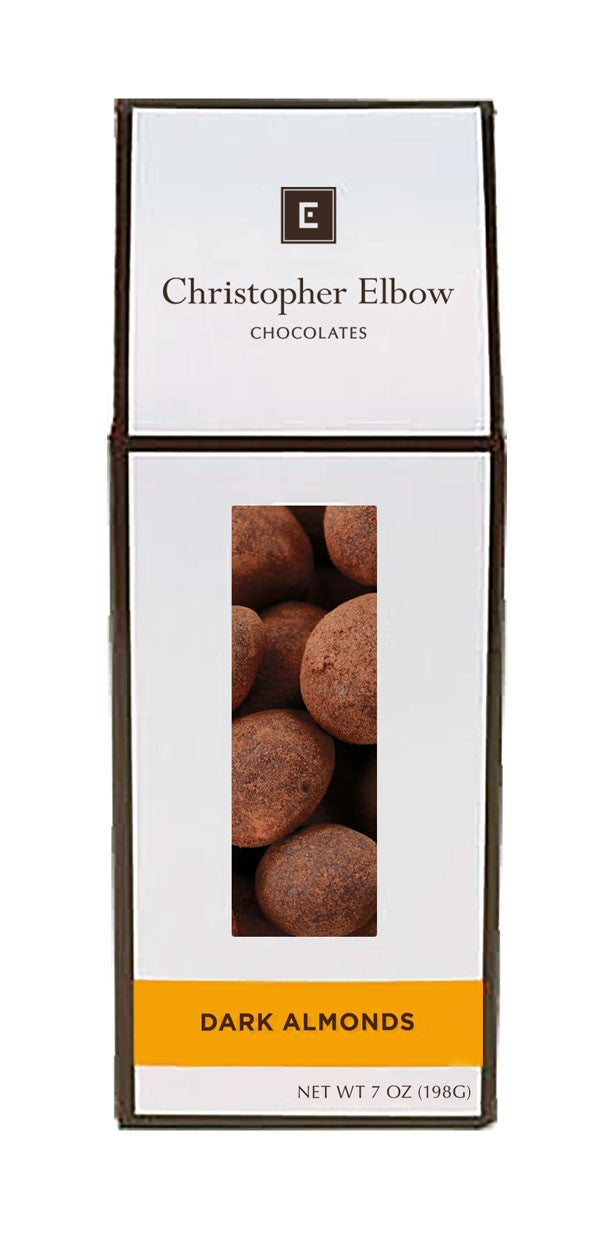 Christopher Elbow Dark Chocolate Almonds, 7 oz.