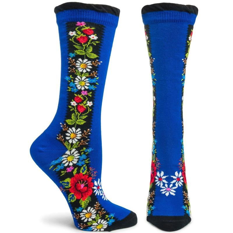 Ozone Folklore Socks, Navy