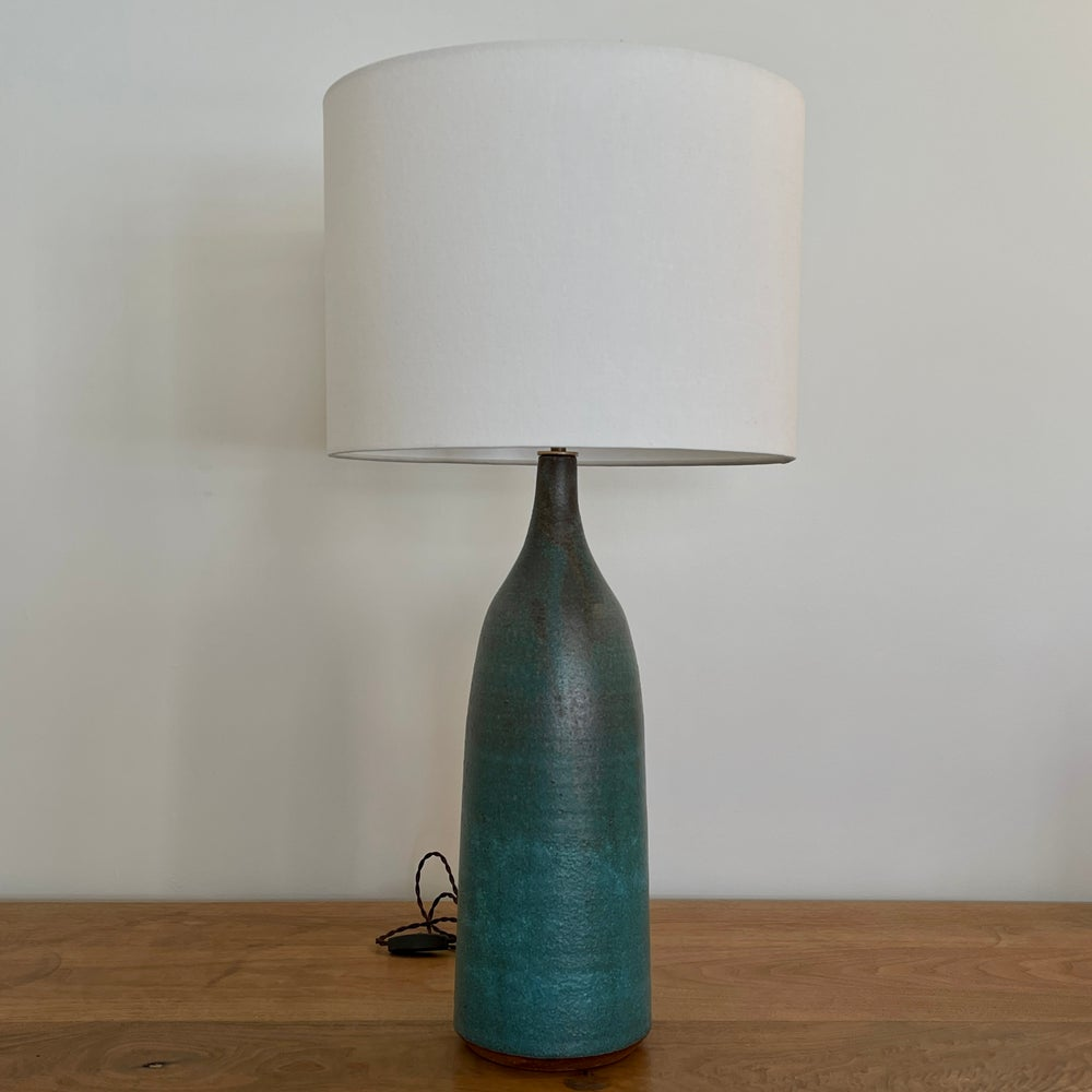 XL Turquoise Bottle Lamp