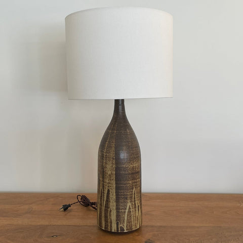 XL Brown Poured Lamp