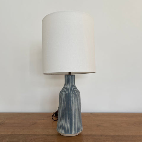 Delos Lamp - Pinstripe French Blue