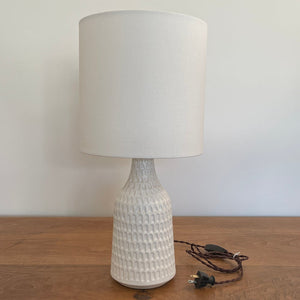 Carved Arch Lamp - Satin White